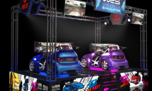 Amega launching rally sim at Asian show