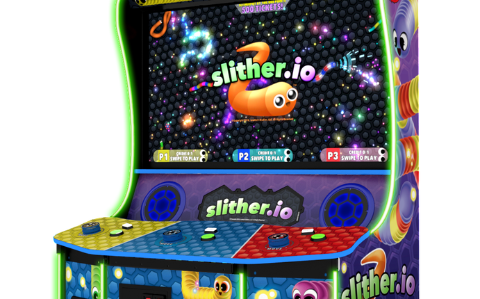 Slither.io app comes to the arcades